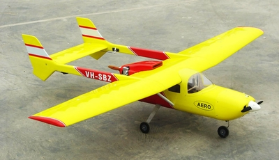 "Yellow Skymaster 337 46-81"" Twin-Engine Nitro Gas  led RC Airplane ARF RC Remote Control Radio"
