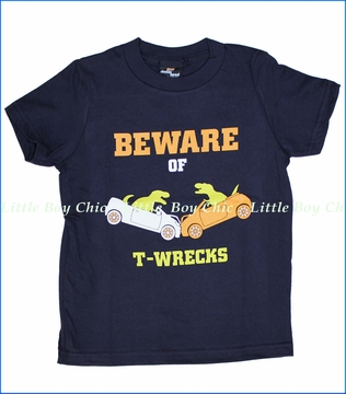 24-7 Daddyhood, Beware of T-Wrecks Tee in Navy (c)