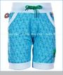 4 Funky Flavours, Waveforms Knit Shorts in Blue