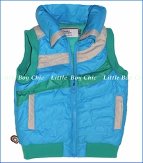 4 Funky Flavours, Where Are We Now Zip Puff Vest in Blue (c)