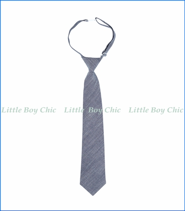 Andy & Evan, Chambray Tie in Blue