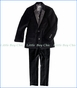 Appaman, 2-Pc Mod Suit in Black Velvet