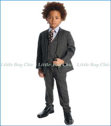 Appaman, 2-PC Mod Suit in Charcoal Wales Check