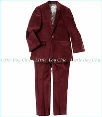 Appaman, 2-Pc Mod Suit in Tibetan Red Velvet