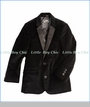 Appaman, Blazer in Black Velvet