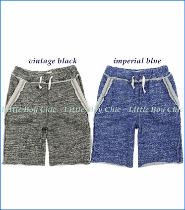 Appaman, Brighton Terry Shorts in Vintage Black and Imperial Blue