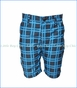 Appaman, Checkered Print Hybrid Shorts in French Blue