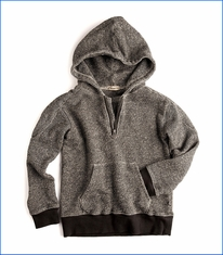 Appaman, Half Zip Knit Hoodie in Black & White