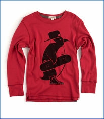 Appaman, LS Skater Penguin T-Shirt in Red