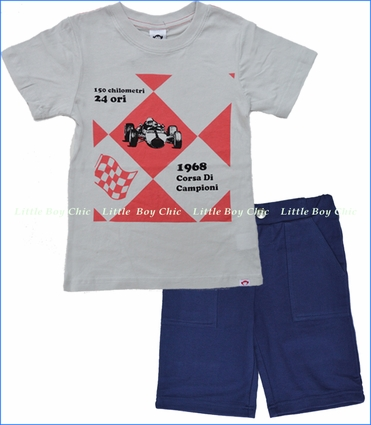 Appaman, Racecar Argyle Tee with Galaxy Stanton Shorts