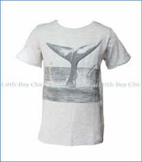 Appaman, Whale of a Tail T-Shirt in Cloud Heather