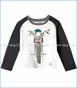 Art & Eden, Organic Evan Raglan T-Shirt in Egret