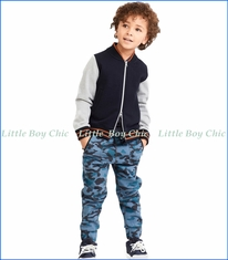 Art & Eden, Organic Grand Jogger in Blue Army Camo