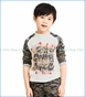 Art & Eden, Organic Roar Raglan T-Shirt in Camo