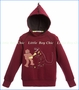 Billy Bandit, Dino Hood Fleece Sweatshirt in Dark Red