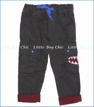 Billy Bandit, Monster Lined Cargo Pants in Charcoal