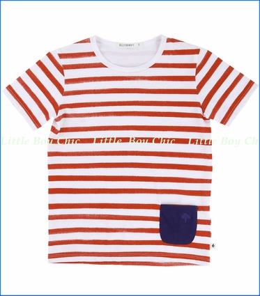 Billy Bandit, Tangelo Pocket Striped Tee (c)