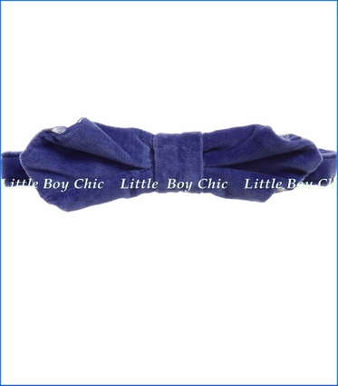 Billy Bandit, Velour Bowtie in Blue