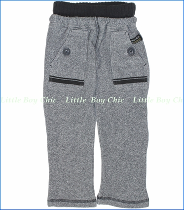 Bit'z Kids, Big Pocket French Terry Pants in Grey (c)