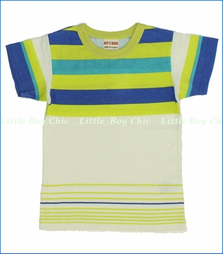 Bit'z Kids, Crazy Stripe Tee in Off White (c)