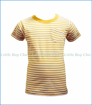 Bit'z Kids, Stripe Pocket T-Shirt in Orange