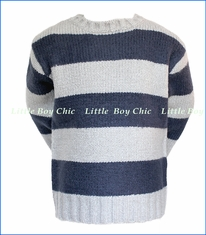 Bit'z Kids,  Striped Knit Sweater in Grey