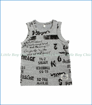 Bit'z Kids, Word Tank Top in Grey