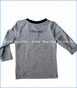 Blade & Rose, L/S Crazy Cat Top in Grey
