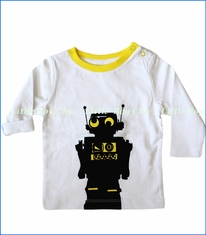 Blade & Rose, L/S Robot Top in White