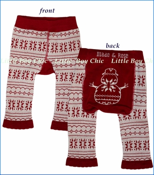 Blade & Rose, Snowman Leggings in Red