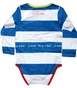 Blade & Rose, Striped Bodysuit w/ Pocket in Blue