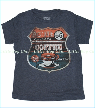 Californian Vintage, Route 66 Tee in Midnight (c)