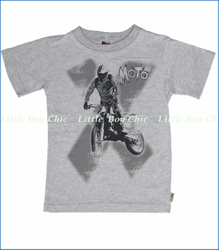 Charlie Rocket, Moto Tee in Heather (c)