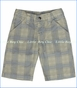 Charlie Rocket, Plaid Classic Twill Shorts in Sand (c)