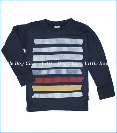 Charlie Rocket, Taped Up Tee in Navy (c)