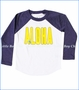 Chaser, Aloha Vintage Jersey Baseball Tee in White