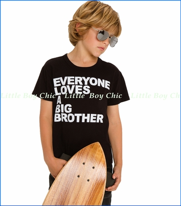 Chaser, Big Brother Love T-shirt in Black