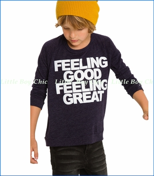 Chaser, L/S Feeling Good T-Shirt in Blue