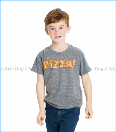 Chaser, Pizza Time T-Shirt in Streaky Grey