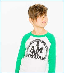 Chaser, The Future Raglan T-Shirt in White