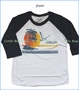 Chaser, Vaca Chillin Raglan T-Shirt in White