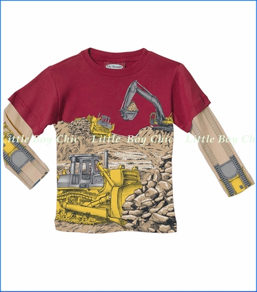 City Threads, Bulldozer 2fer in Red