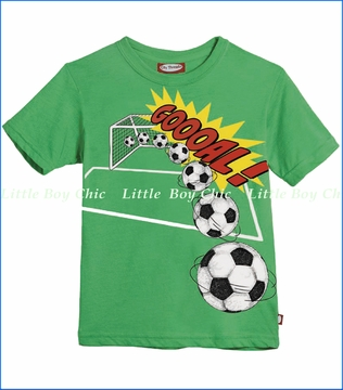 City Threads, Gooaal Soccer Tee in Elf