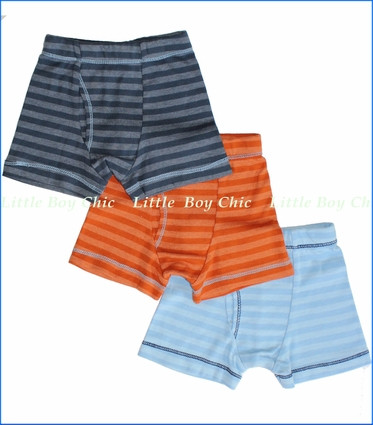 City Threads, Orange Blue Midnight Stripe Boxer Briefs 3-Pack