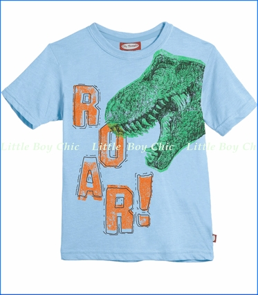 City Threads, Roar Tee in Light Blue