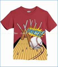 City Threads, Strike Tee in Ketchup