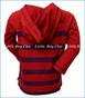 City Threads, Stripe Raglan Hoodie in Red