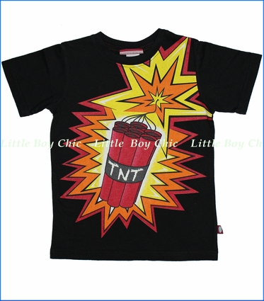 City Threads, TNT Tee in Black (c)