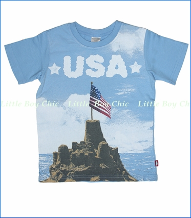 City Threads, USA Beach Tee in Light Blue