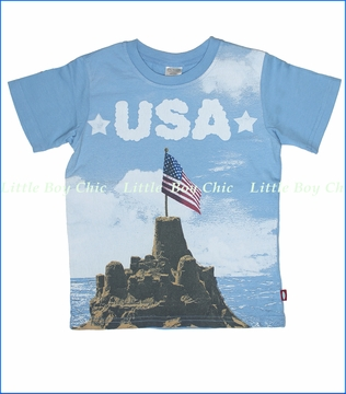 City Threads, USA Beach Tee in Light Blue (c)